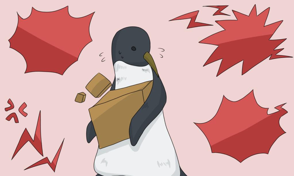 慌てるペンギン