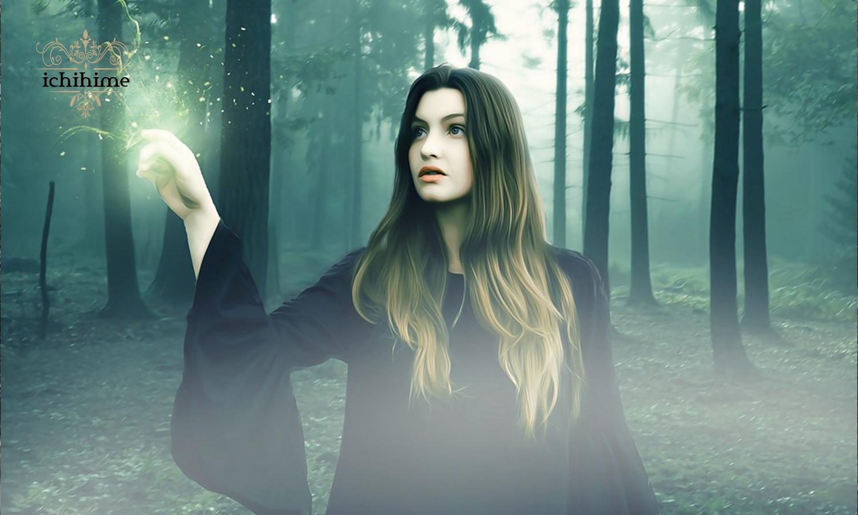 森の中の美女