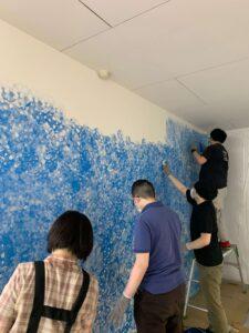 東町壁塗り